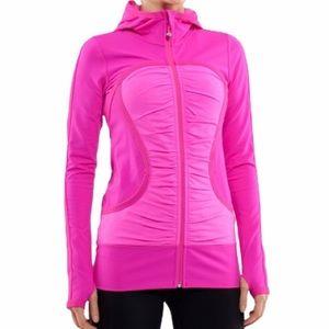 LULULEMON Pure Balance Jacket Ruched Paris Pink